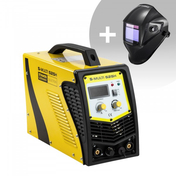 Schweißset Kombi Schweißgerät - WIG 180 A - Cut 40 A - E-Hand + Schweißhelm – Carbonic