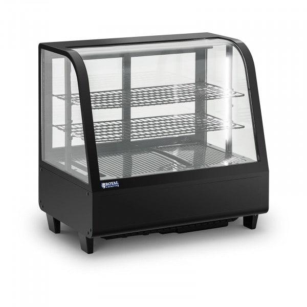 Kühlvitrine - 100 L - 3 Ebenen - Schiebetüren - schwarz