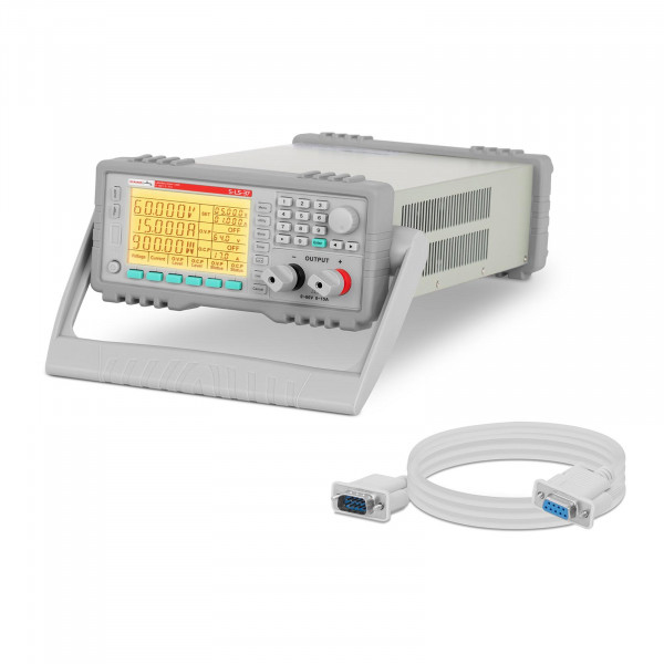 Labornetzgerät - 0-60 V - 0-15 A DC - 900 W - RS232 - 100 Speicherplätze