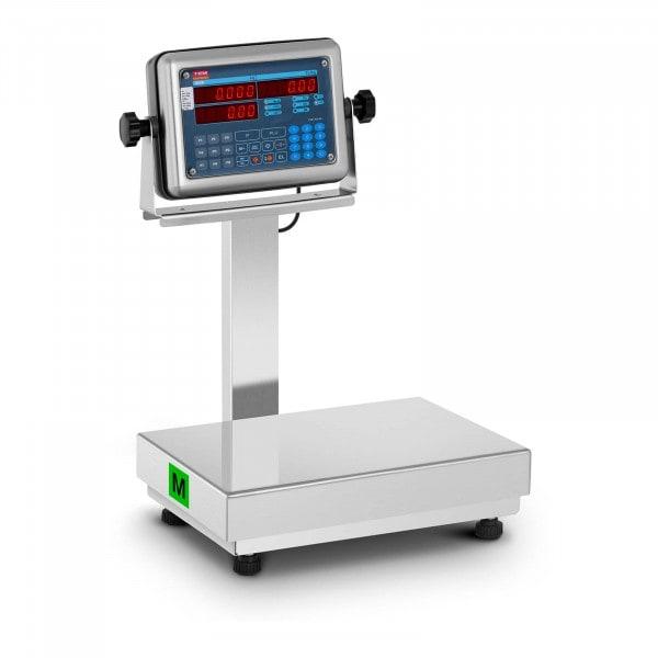 Plattformwaage - geeicht - 30 kg - Preisrechenfunktion - LED-Display