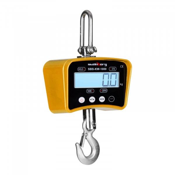 Kranwaage - 1.000 kg / 0,2 kg - LCD - gelb