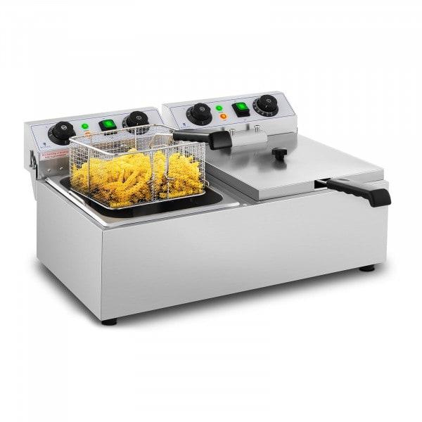 Elektro-Fritteuse - 2 x 10 Liter - Timer - 230 V