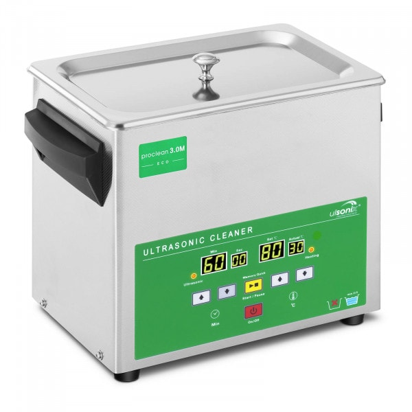 Ultraschallreiniger - 3 Liter - 80 W - Memory Quick Eco