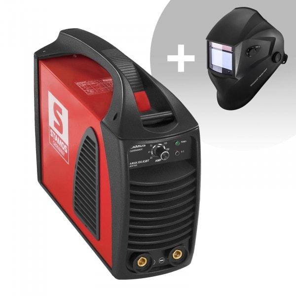 Schweißset Elektroden Schweißgerät – 180 A – Hot Start - IGBT + Schweißhelm – Blaster