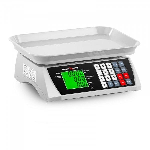 Kontrollwaage - 30 kg / 1 g - 28,8 x 21,8 cm - LCD
