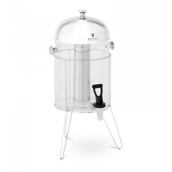 Saftspender - 8 L - Kühlsystem - Edelstahlgestell