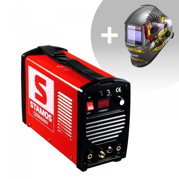Schweißset WIG Schweißgerät - 200 A - 230 V - tragbar + Schweißhelm – Eagle Eye