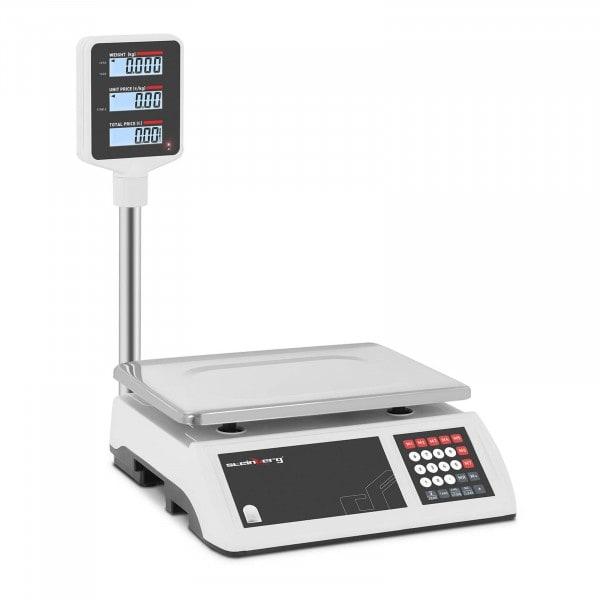 Kontrollwaage - 15 kg / 2 g - LCD-Hochanzeige