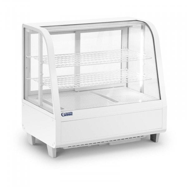 Kühlvitrine - 100 L - 3 Ebenen - Schiebetüren - weiß