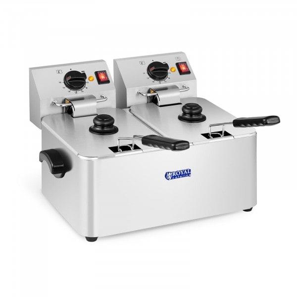 Elektro-Fritteuse - 2 x 8 Liter - EGO Thermostat