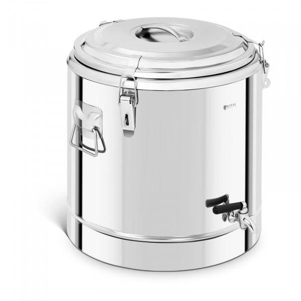 Thermobehälter Edelstahl - 35 L - mit Ablasshahn