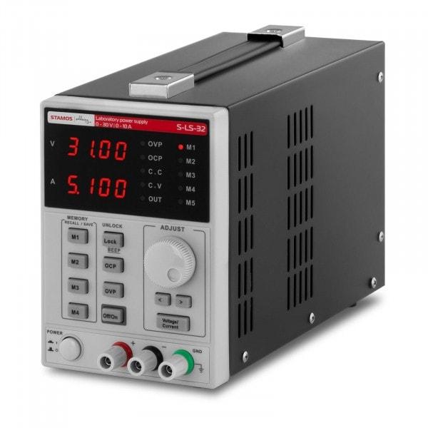 Labornetzgerät - 0-30 V - 0-10 A DC - 550 W - 4 Speicherplätze