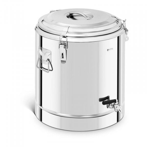 Thermobehälter Edelstahl - 40 L - mit Ablasshahn